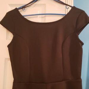 Snap Dresses - ● Structured, Cap-Sleeve Mini Dress ● Size L